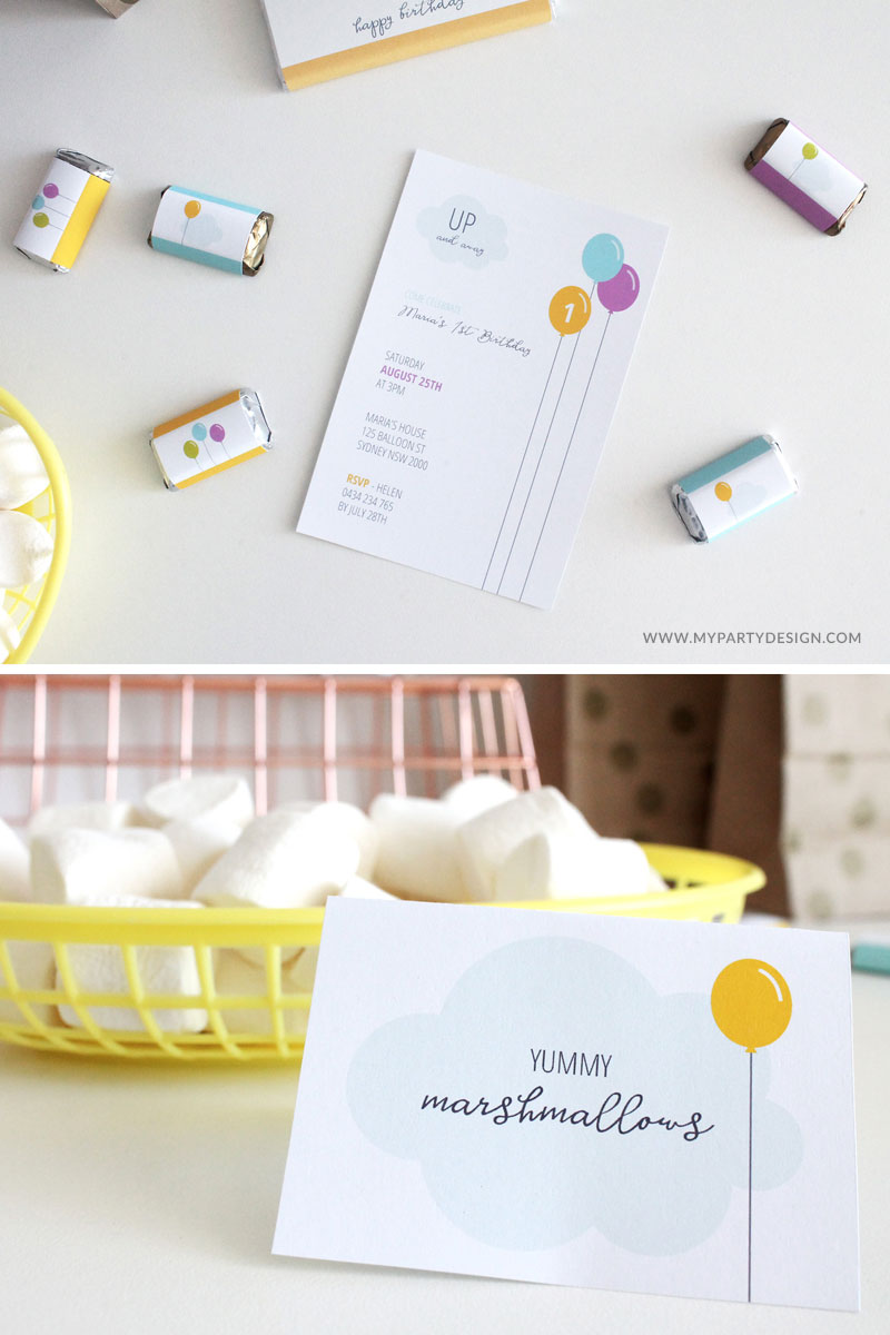 free printable Invitation and party decorations