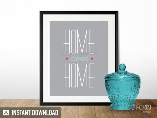 printable home sweet home print