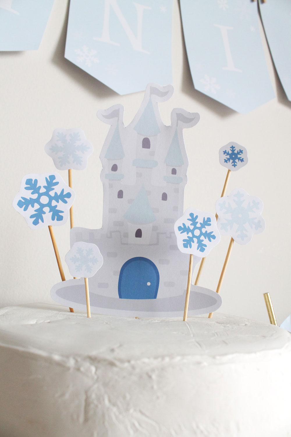 Ice Princess cake topper