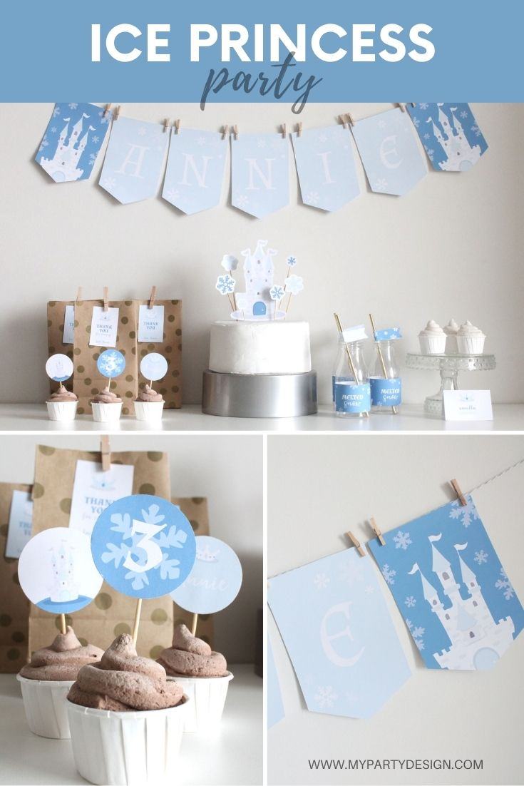 Ice Princess birthday party decorations