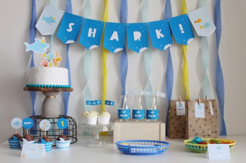 shark party ideas and decorations