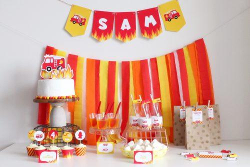 Firetruck Party Decoration Ideas