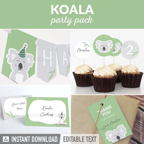 koala party decorations printables