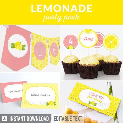 lemonade party decoration printables
