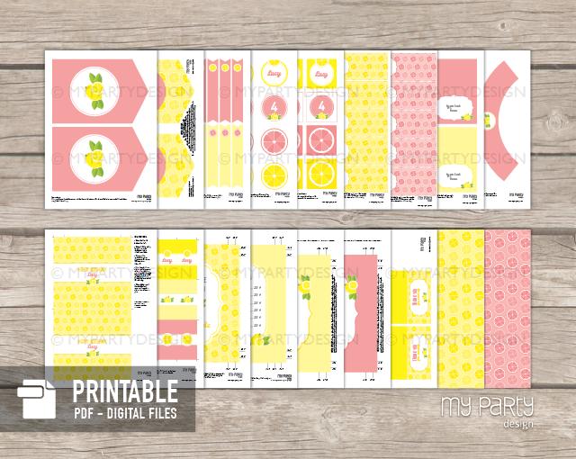 printable lemonade party decorations