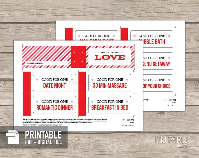 printable love coupon book