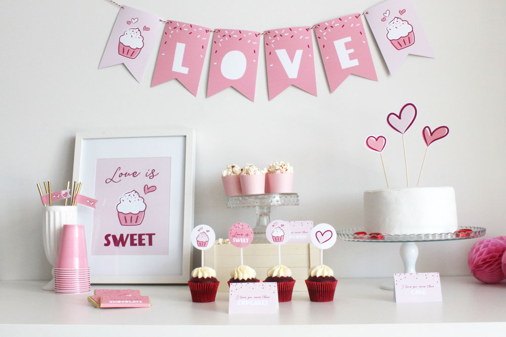 Love is Sweet Valentine's Day Party Table