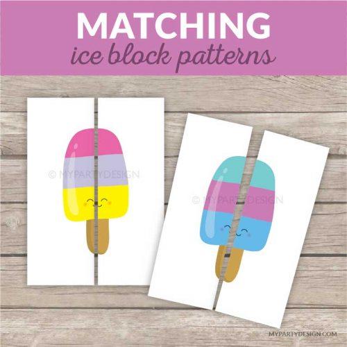 ice blocks matching patterns game
