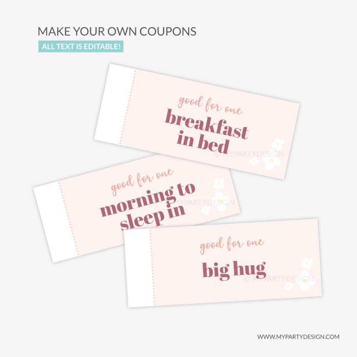 Mother's day coupons gift voucher