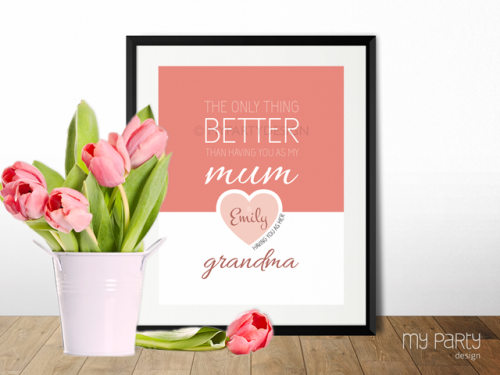 personalized mother's love printable sign