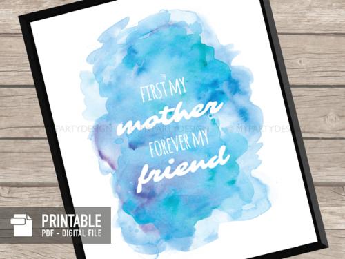printable mother's day print