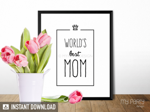 World's best mum printable mother's day print