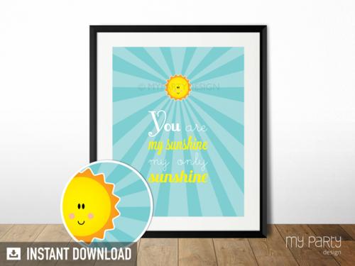 you are my sunshine printable sign