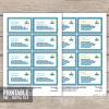 printable nautical baby shower book insert