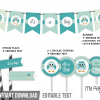printable owl boy baby shower party decorations