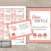 printable pink owl baby shower diaper raffle