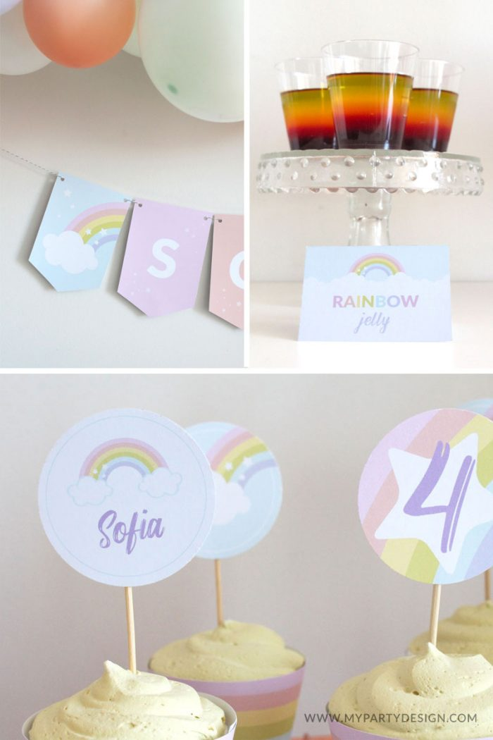 Printable Rainbow Party Decorations