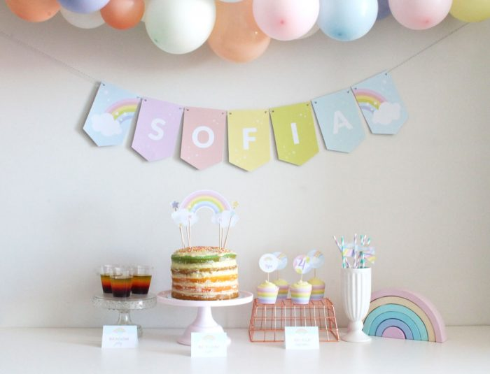 Rainbow Party Decoration Ideas for a Birthday or Baby Shower Party
