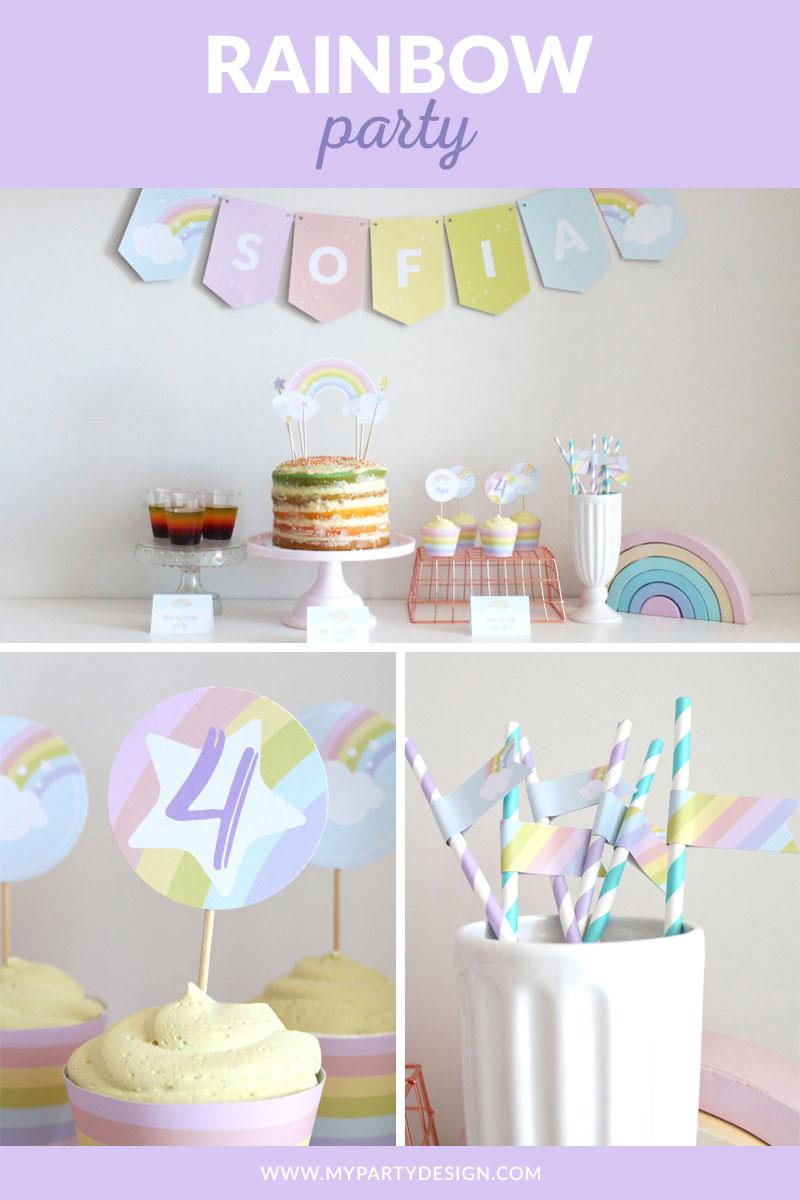 Rainbow Party decoration