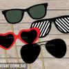 printable sunglasses photobooth props