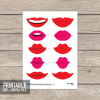 printable lips photo booth props