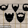printable beards photo booth props