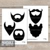 diy printable beards photobooth props