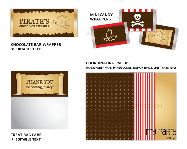 printable pirate birthday party decorations