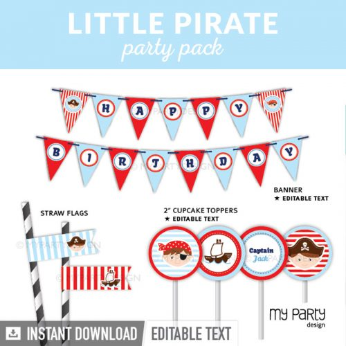 pirate party decoration printables