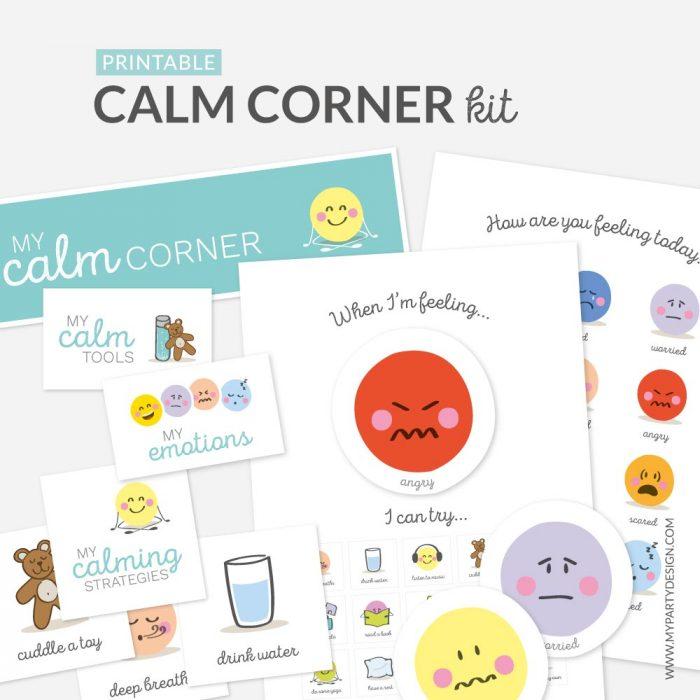 printable calm corner kit for kids