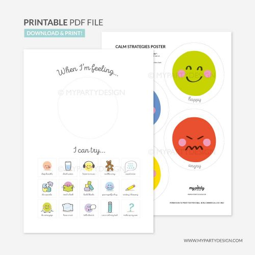 printable calm down strategies for kids