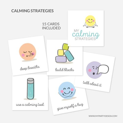 calm down strategies cards for kids