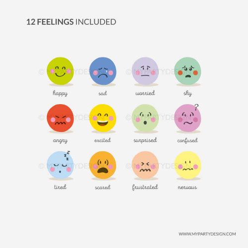 Printable emotions flashcards