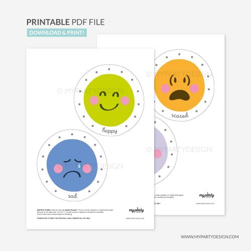 printable emotions lacing cards