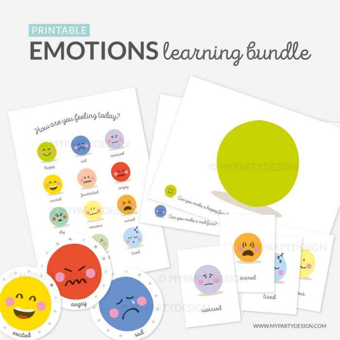 printable emotions learning bundle