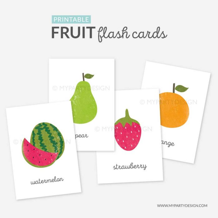 Fruit Flash Cards Printable