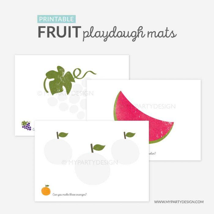 fruit playdough mats printable