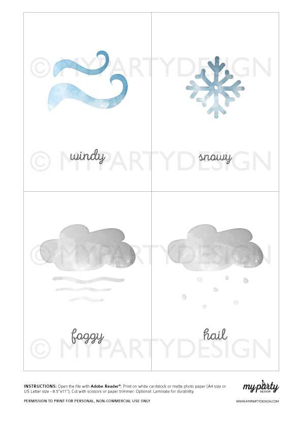 learn the weather printables