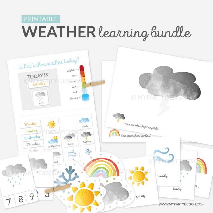 printable weather learning bundle