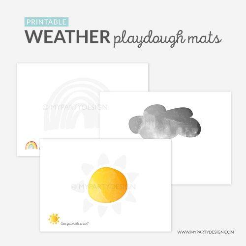 printable weather playdough mats