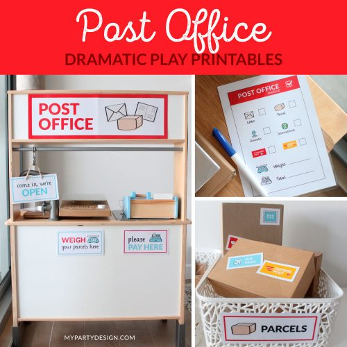 Post Office Dramatic Play Printables for Imaginative play