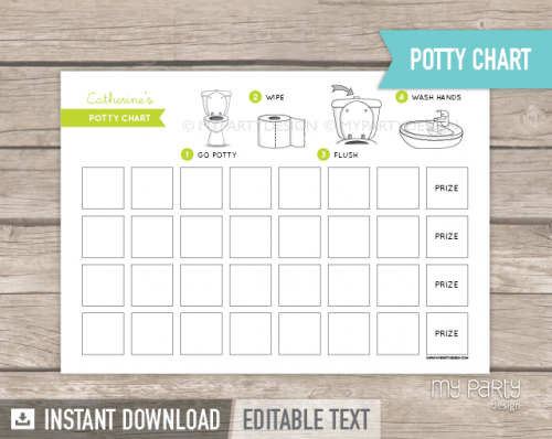 potty training chart printable