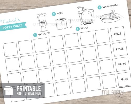 potty training chart printable