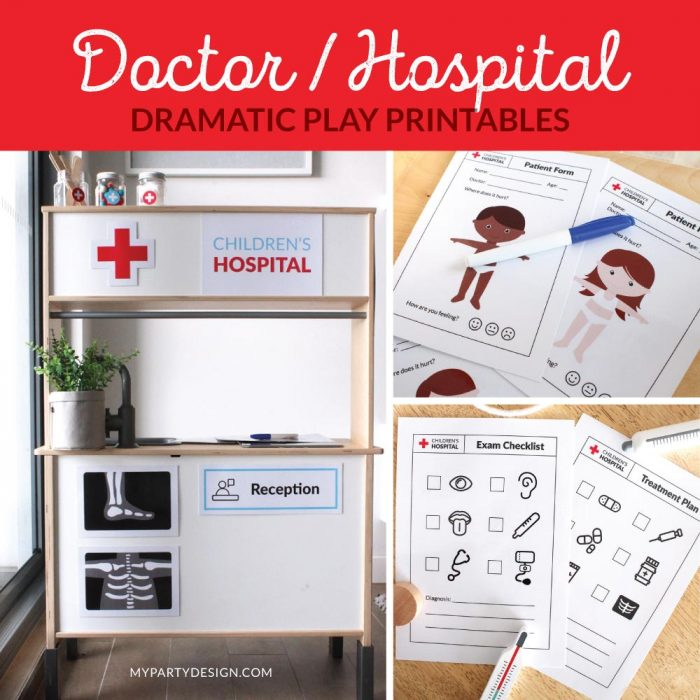 Doctor Dramatic Play Printables for Imaginative play