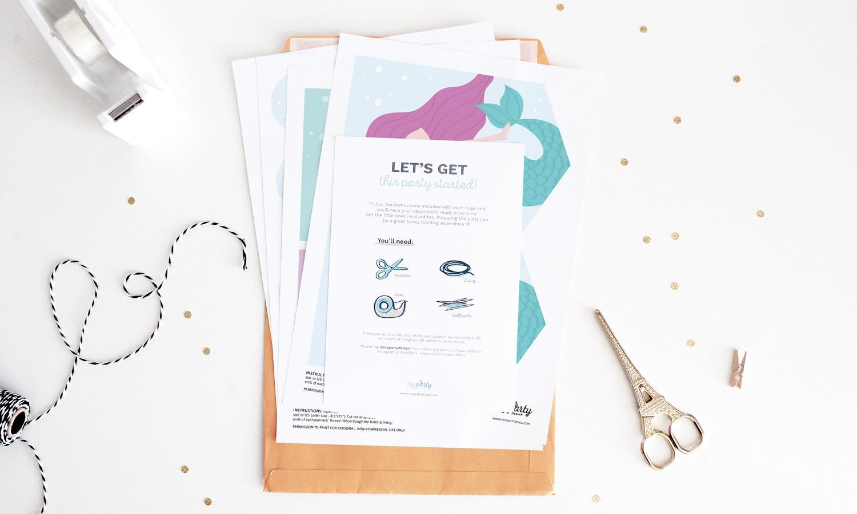 printed diy party kits in Australia