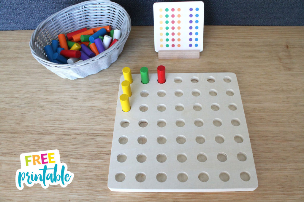 free printable pegboard pattern cards