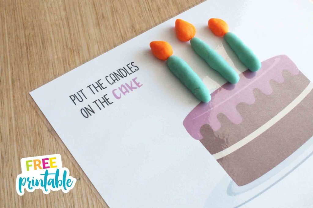 free printable cake playdough mat