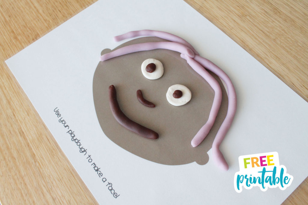 free printable face playdough mats