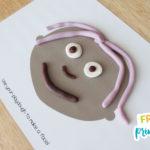 FREE Printable Face Playdough Mats