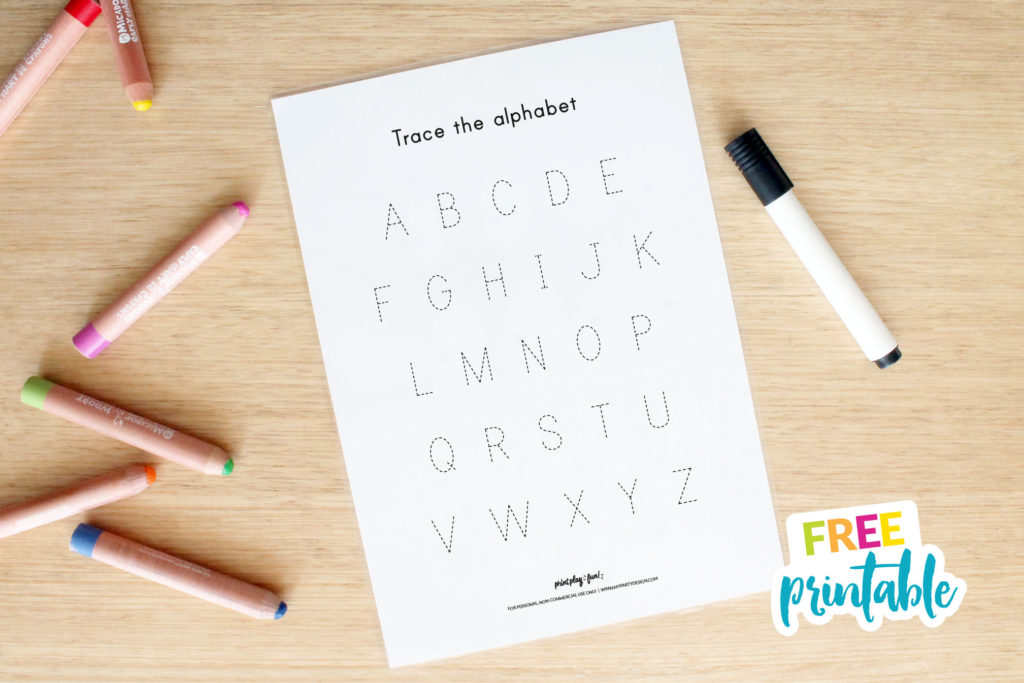 free alphabet tracing mat for writing practice